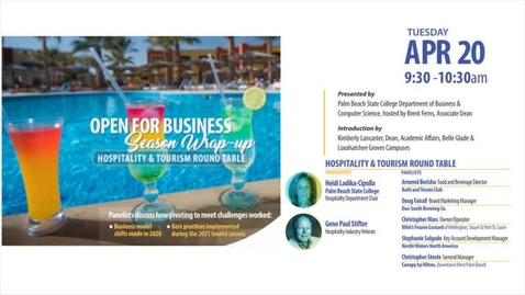 Thumbnail for entry Open For Business - Season Wrap-Up - Hospitality Roundtable #3