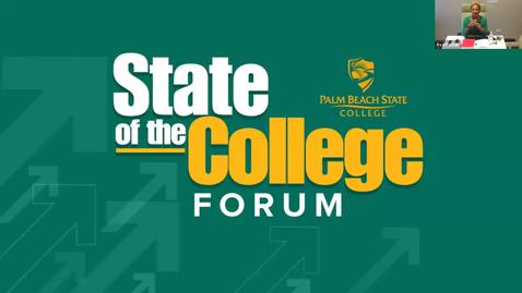 Thumbnail for entry 8-5-2020 - Boca Raton - State of the College Forum