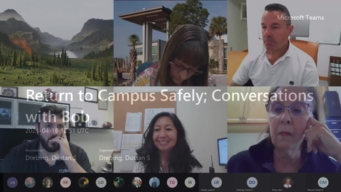 Thumbnail for entry Return to Campus Safely; Conversations with Bob - 04.16.21