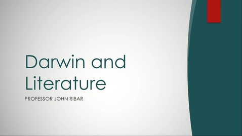 Thumbnail for entry 2019 Darwin Day - Darwin and Literature - John Ribar