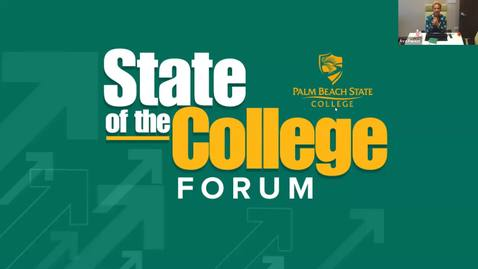 Thumbnail for entry 8-4-2020  -  Palm Beach Gardens - State of the College Forum