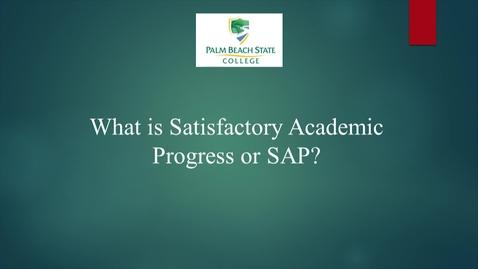 Thumbnail for entry Financial Aid SAP