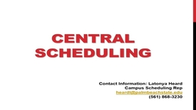 Thumbnail for entry Central Scheduling