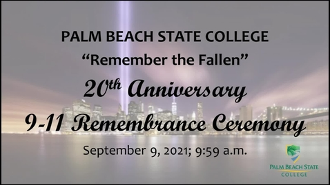 Thumbnail for entry 9-11 20th Anniversary Remembrance Ceremony