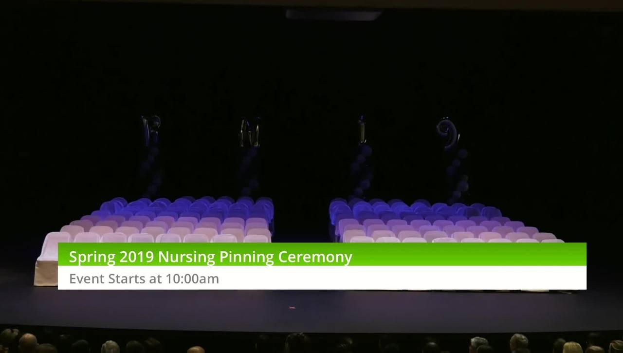 Spring 2019 Nursing Pinning Ceremony