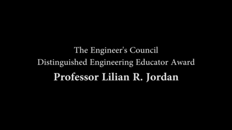 Thumbnail for entry Distinguised Engineering Educator Award