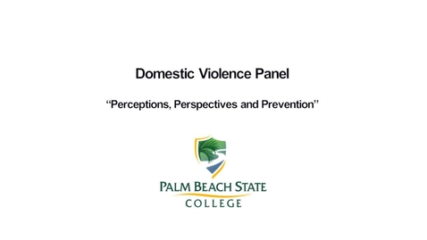 Thumbnail for entry Perceptions, Perspectives and Prevention