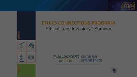 Thumbnail for entry Ethics: Ethical Lens Inventory