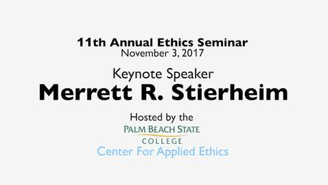 "Thumbnail for entry ""Ethical Conduct In America – A Contemporary Crisis"" 