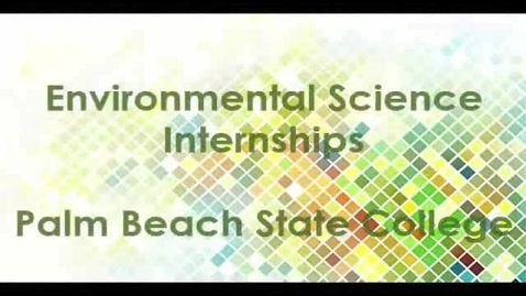 Thumbnail for entry Environmental Sciences Technology internships