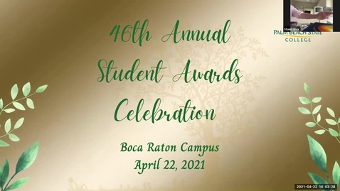 Thumbnail for entry 46th Annual Student Awards Celebration Spring 2021