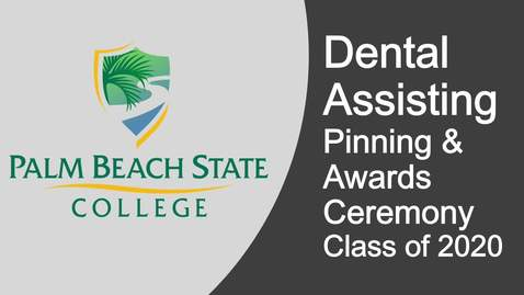 Thumbnail for entry   Dental Assisting Pinning & Awards Ceremony