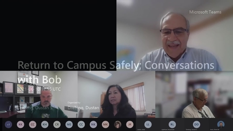 Thumbnail for entry Return to Campus Safely; Conversations with Bob - 06.10.21