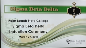 Thumbnail for entry Sigma Beta Delta Induction Ceremony
