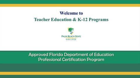 Thumbnail for entry Educator Preparation Institute (EPI) - EPI Alternative Certification