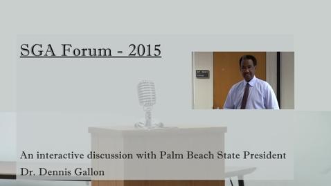 Thumbnail for entry SGA Forum 2015