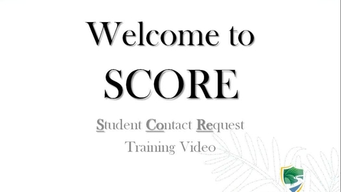 Thumbnail for entry Welcome to SCORE