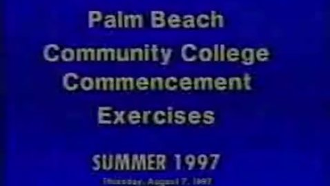 Thumbnail for entry 5-13173 Palm Beach Community College Commencement Exercises Summer 1997