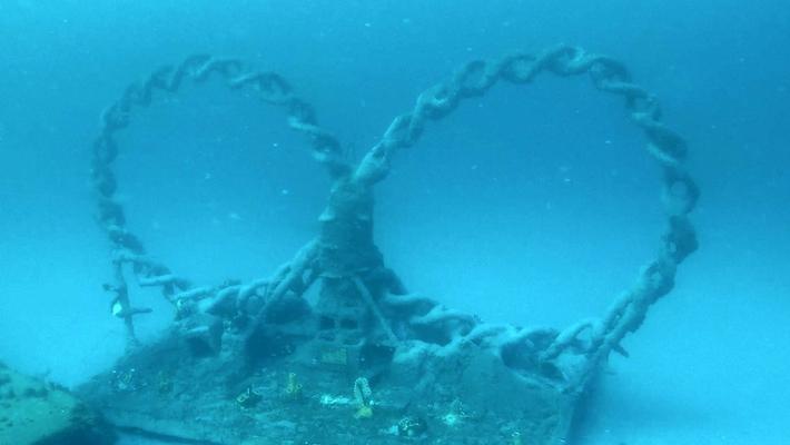 Underwater View of PBSC's Artificial Reef Sculpture