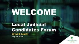 Thumbnail for entry Local Judicial Candidates Forum