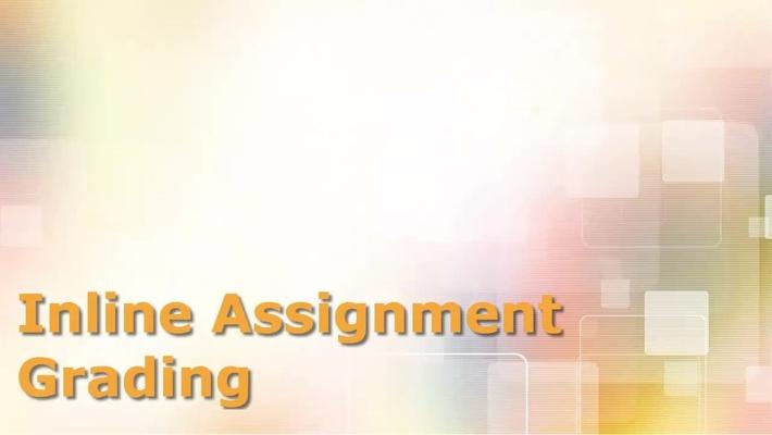 Inline Assignment Grading
