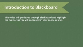 Thumbnail for entry Blackboard Introduction