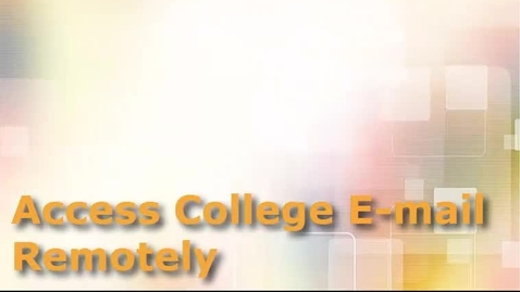 Thumbnail for entry Access College Email Remotely