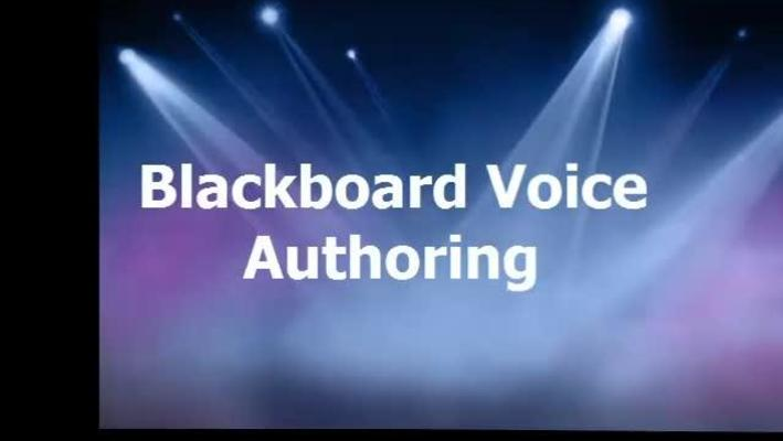 Blackboard Voice Authoring