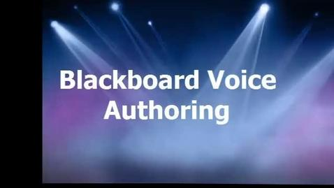 Thumbnail for entry Blackboard Voice Authoring