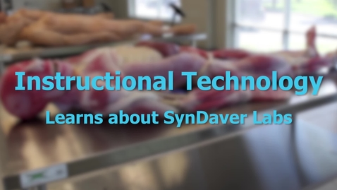 Thumbnail for entry SynDaver Demonstration