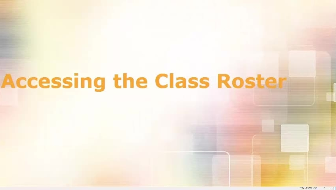 Accessing the Class Roster