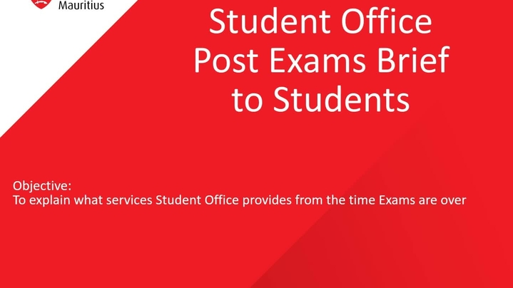 Thumbnail for channel THE STUDENT OFFICE TEAM (MRU)