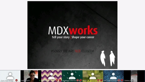 Thumbnail for entry Rec - 15 May 2020 13:57 - MDXworks Careers and Employability Service.mp4