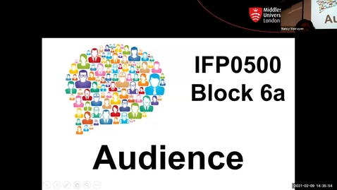 Thumbnail for entry Block 6a - Lecture - Audience (9/2/21)