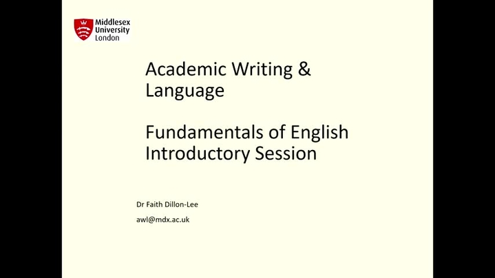 Thumbnail for channel Fundamentals of English. LET support.
