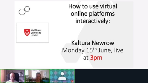Thumbnail for entry Rec - 15 Jun 2020 15:00 - LET Kaltura New Row.mp4