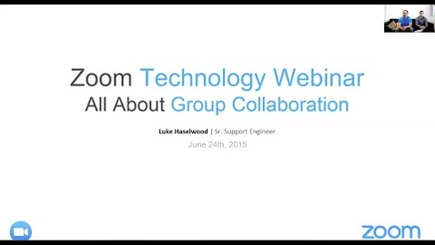 Thumbnail for entry Technology Webinar: All About Group Collaboration Zoom