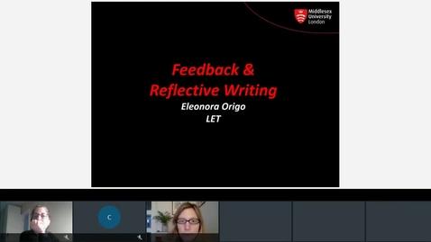 Thumbnail for entry Feedback and Refective Writing Eleonora Origo.mp4