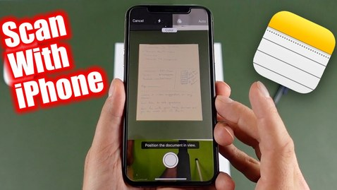 Thumbnail for entry How To Scan Documents Using an iPhone or iPad