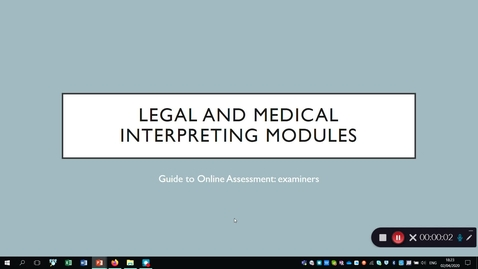 Thumbnail for entry Legal and Medical Interpreting exams 2020 Examiners' Guide