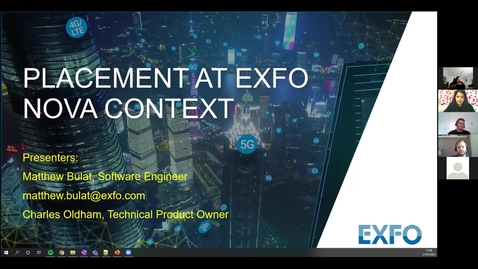 Thumbnail for entry Software Developer Recruitment Day with EXFO