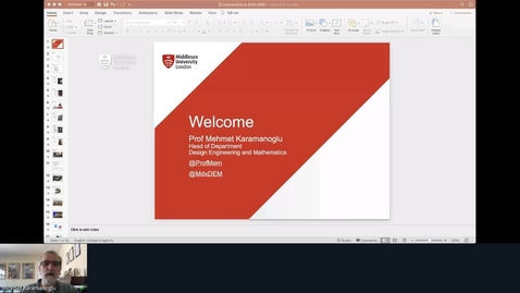 Thumbnail for entry Rec - 6 May 2020 13:10 - Dept of Design Engineering and Mathematics.mp4
