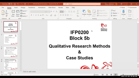 Thumbnail for entry Block 5b - Lecture - Qualitative research methods and case studies (2/2/21)