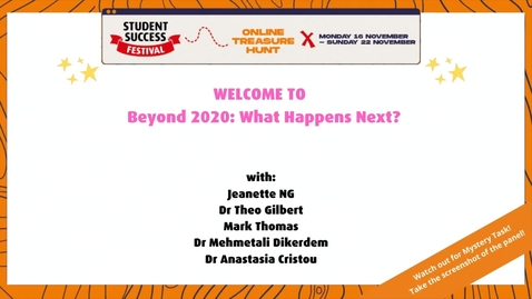 Thumbnail for entry Beyond 2020: What Happens Next?