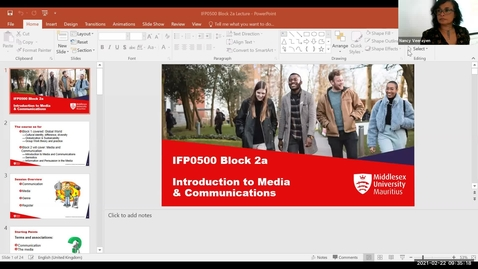 Thumbnail for entry Block 2a - Introduction to Communication and Media (22/2/21)