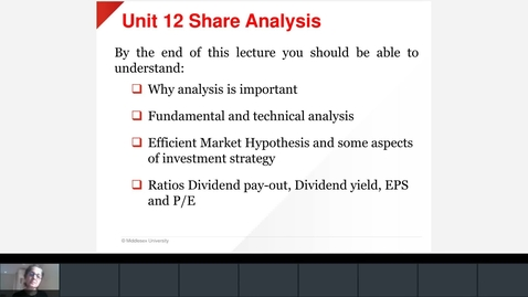 Thumbnail for entry Unit 12  Share Analysis Firoozeh Monday Session.mp4