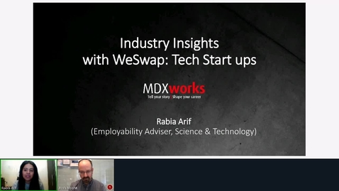 Thumbnail for entry Industry Insight with WeSwap - Careers in Tech Strat-ups.mp4