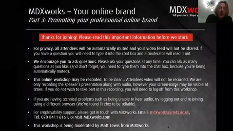 Thumbnail for entry Online branding Part 3 of 3 - Promoting Your Brand