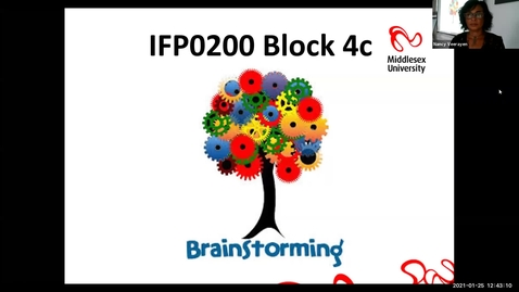 Thumbnail for entry 0200 Block 4c - Lecture  - Brainstorming (25/1/21)