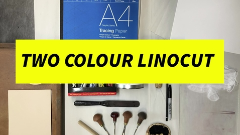 Thumbnail for entry 2 colour LINOCUT